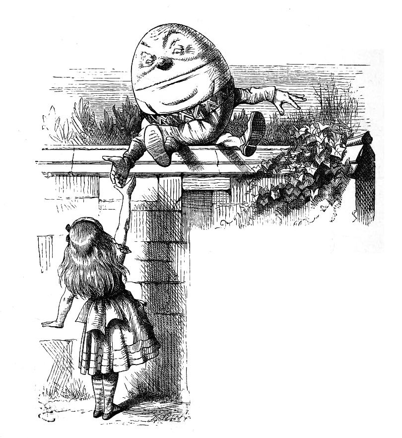 Humpty Dumpty by Tenniel